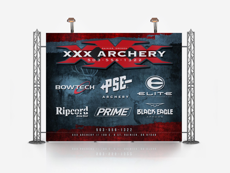 XXX Archery Tradeshow Booth