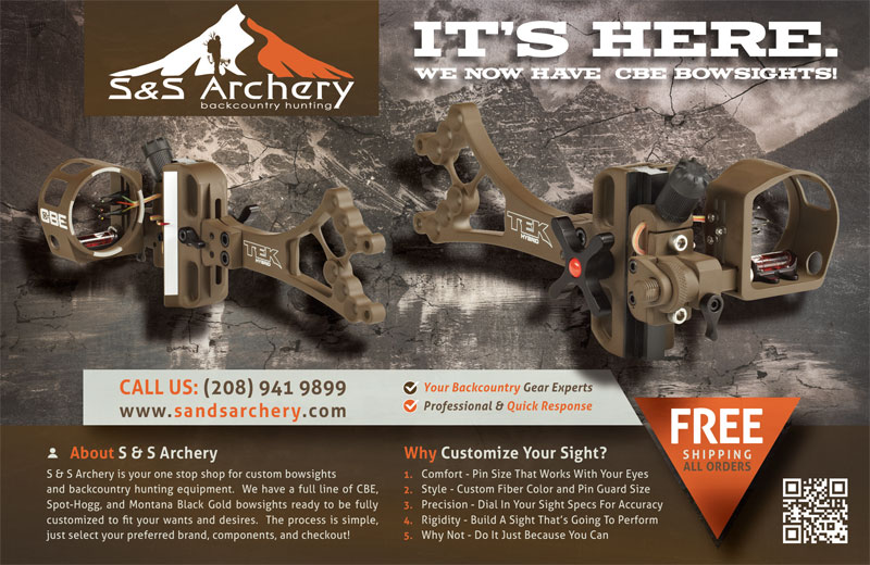 S and S Archery CBE Hunting Magazine Ad Design