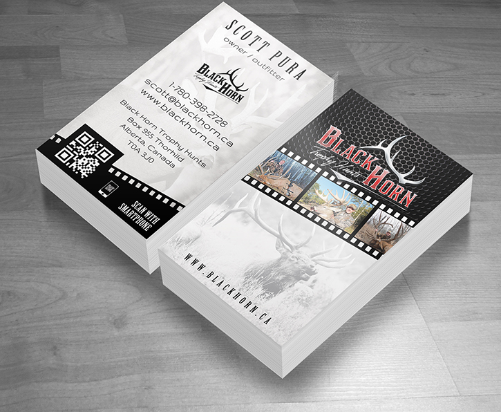Black-Horn-Industries-Outdoor-Hunting-Business-Card-Design-Wood