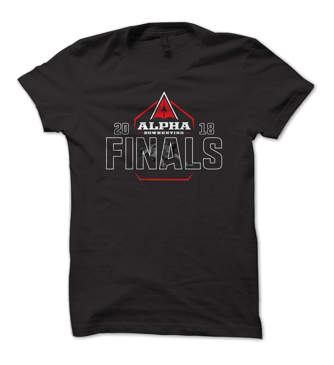 Alpha Bowhunting Finals Event Shirt Design