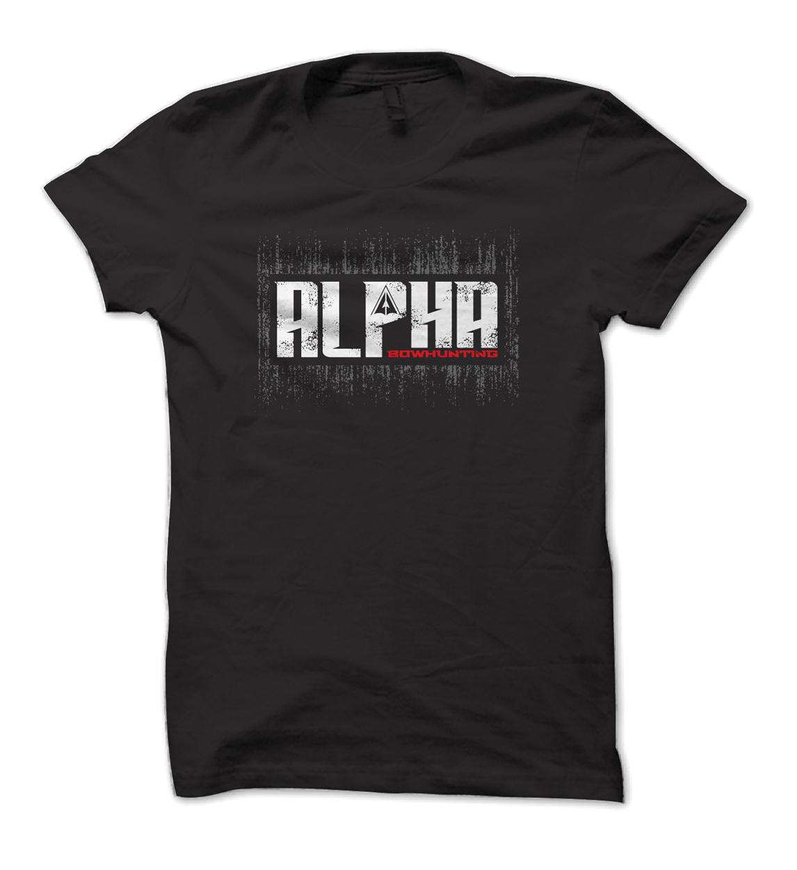Alpha Bowhunting LIfestyle Block Tee Design