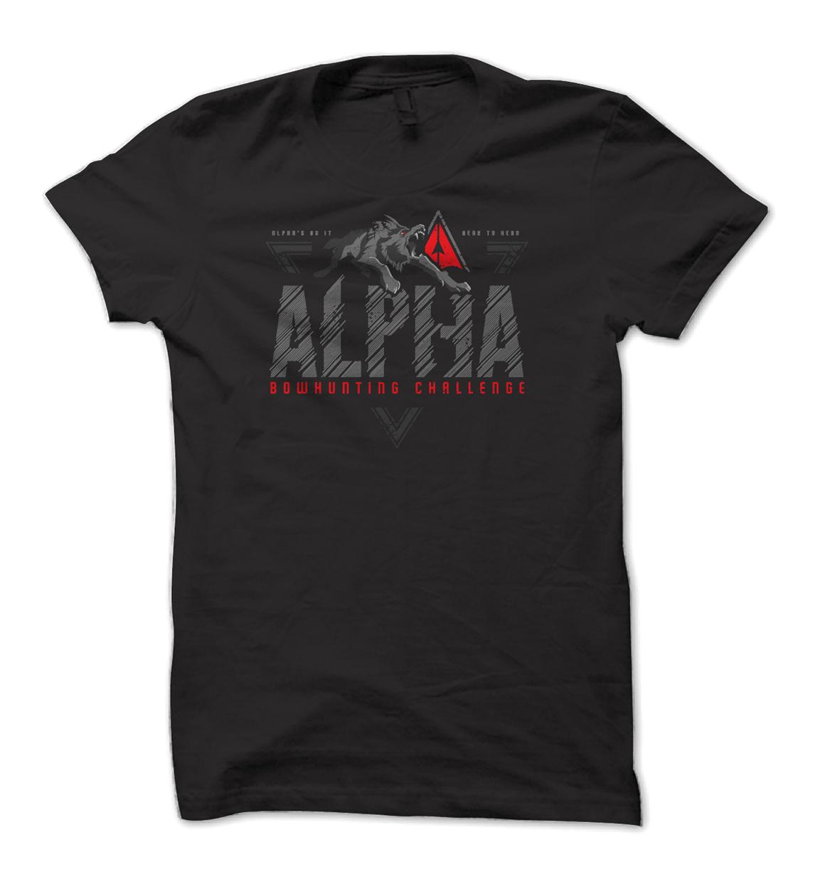 Alpha Bowhunting Wolf Predator Shirt Design