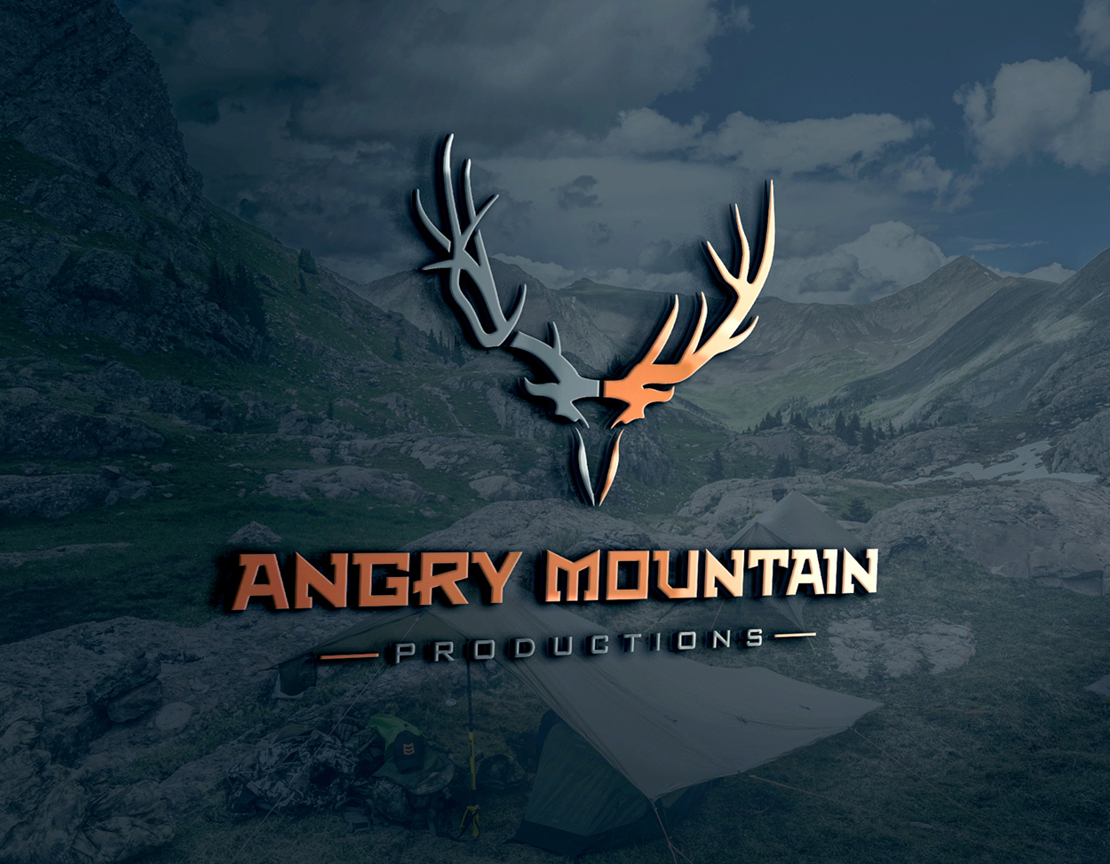 Angry Mountain Productions Deer Elk Video Hunting Logo Design