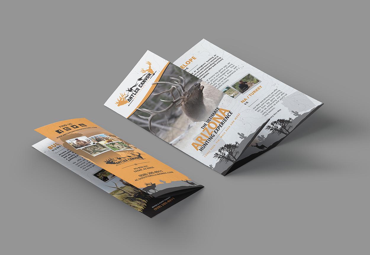 Antler Canyon Outfitters Deer Elk Hunting Brochure Design