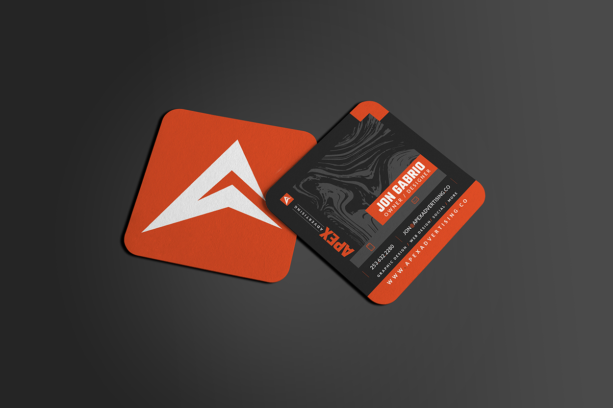 Apex Advertising Creative Design Agency Business Card