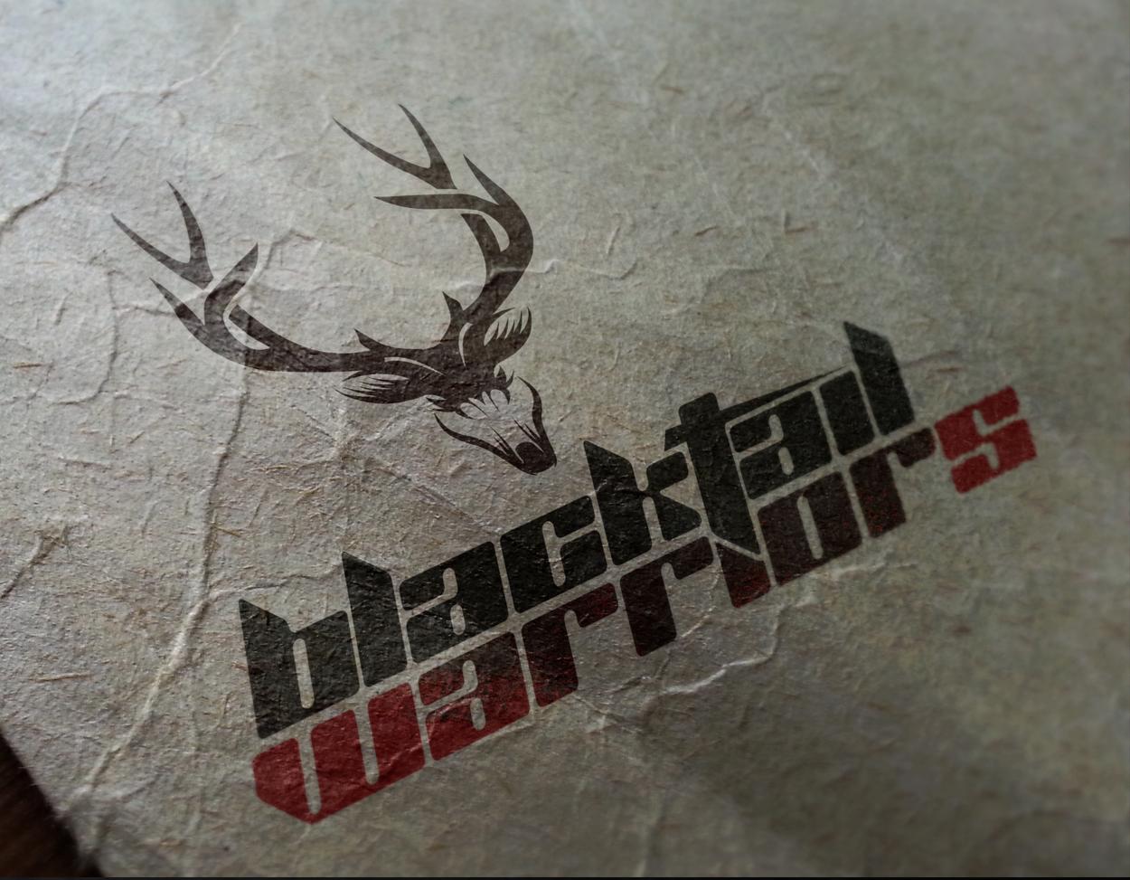 Blacktail Warriors Deer Hunting Western Logo Design