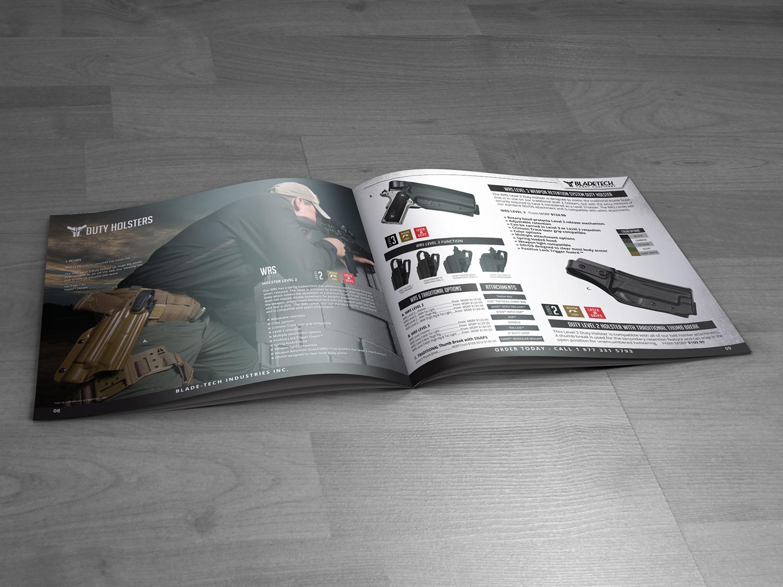 Blade-Tech Industries Gun Holster Catalog Design