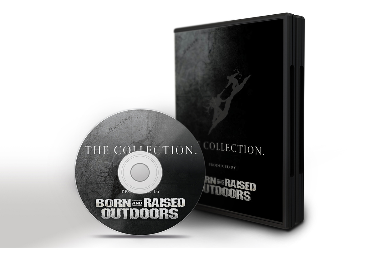 Born and Raised Outdoors Hunting DVD Cover Design