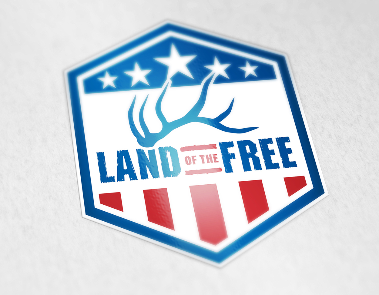 Born and Raised Outdoors Land of the Free Hunting Flag Logo Design