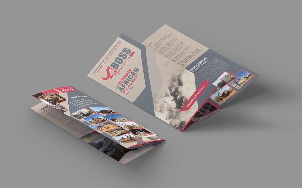 Boss Safaris African Hunting Outfitter Brochure Design