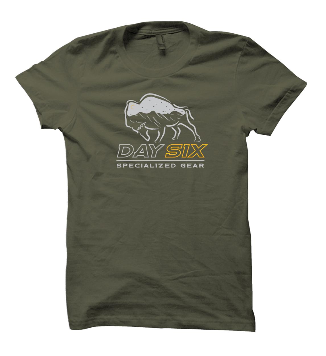 Day Six Gear Arrow Buffalo Shirt Design