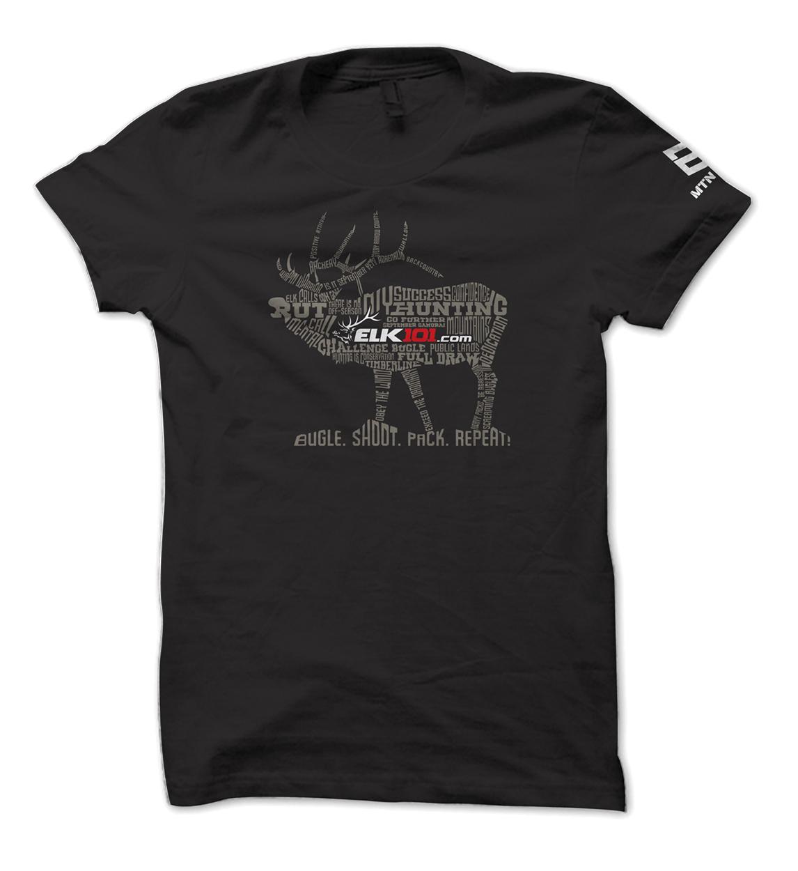Elk101 Elk Hunting Language Tee Design