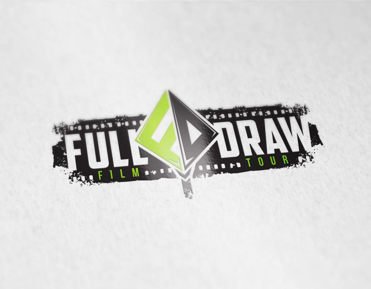 Full Draw Film Tour Bowhunting Logo Design
