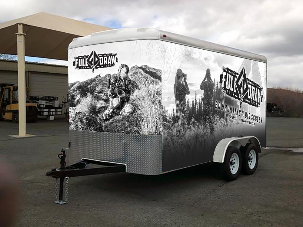 Full Draw Film Tour Cargo Trail Vinyl Wrap Design