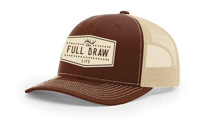 Full Draw Film Tour Elk Antler Shield Hat Design