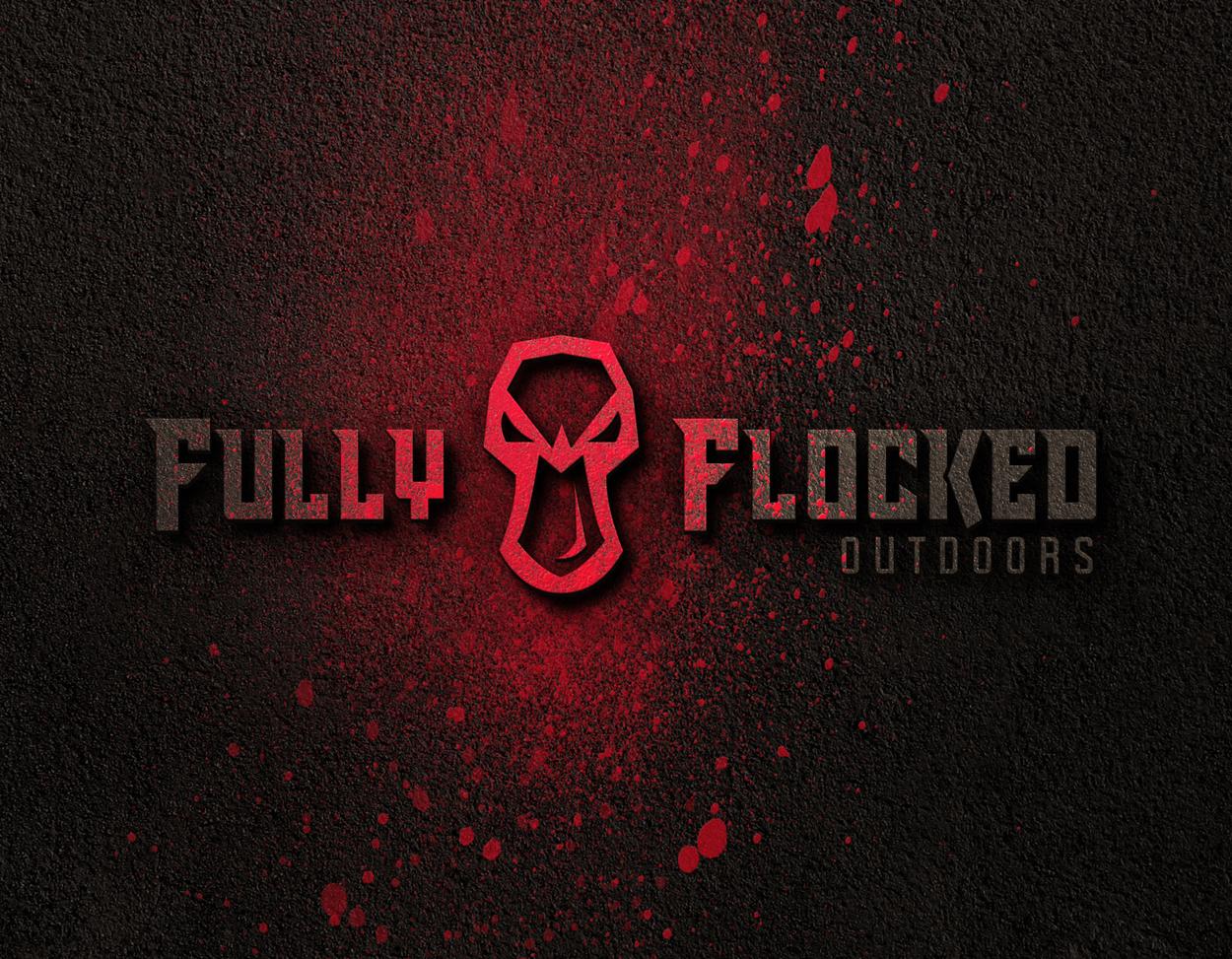 Fully Flocked Duck Goose Hunting Logo Design