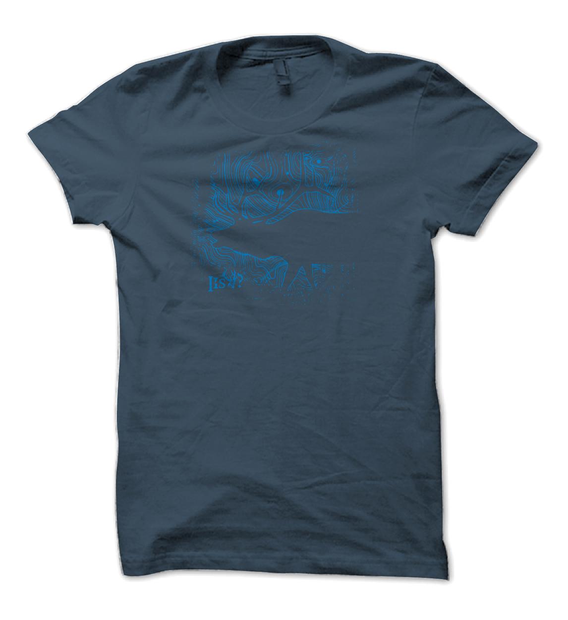 Is It September Yet Elk Topo Blue Shirt Design