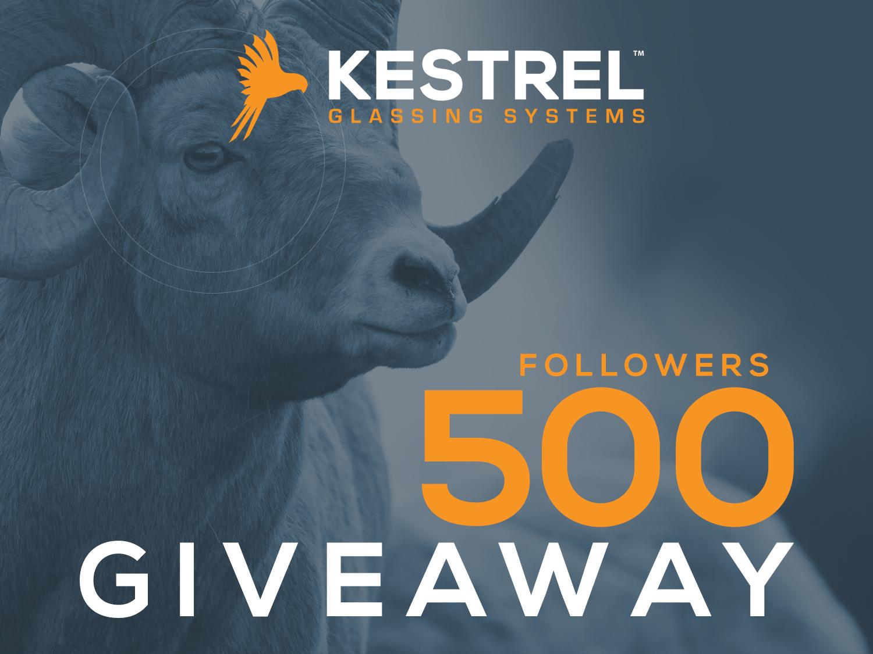 Kestrel 500 followers Giveaway