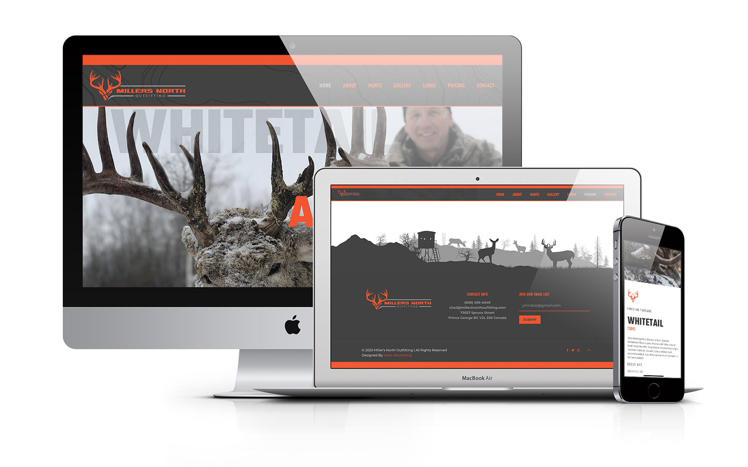Millers North Outfitting Alberta Whitetail Hunting Website Design