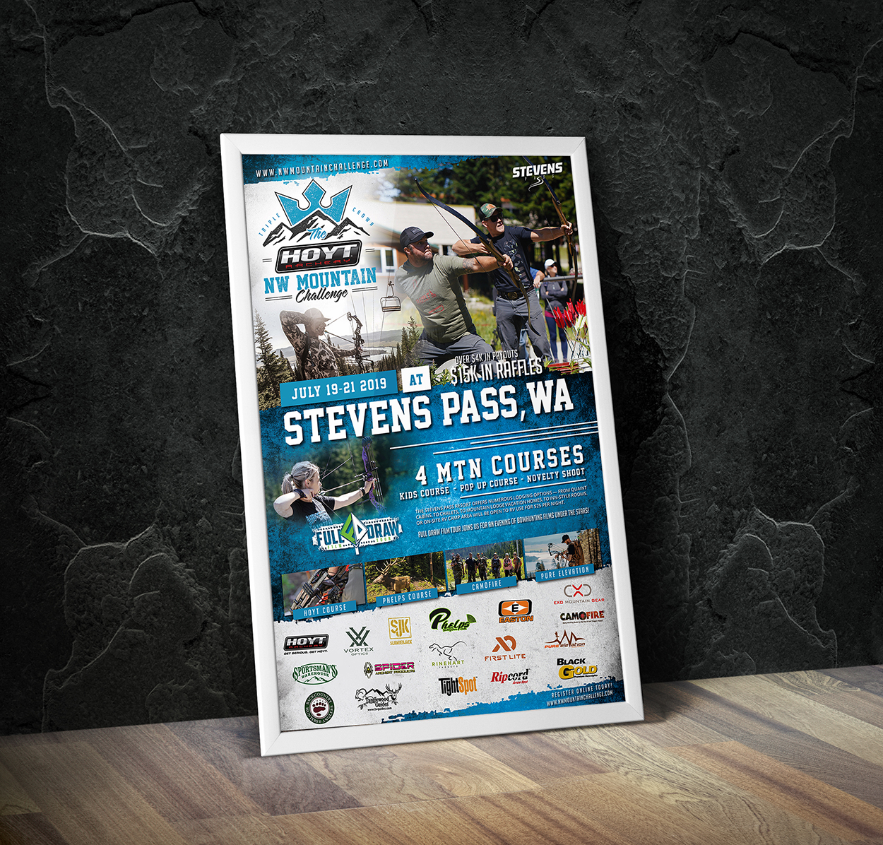 NW Mountain Challenge 3D Archery Shoot Event Posted Design