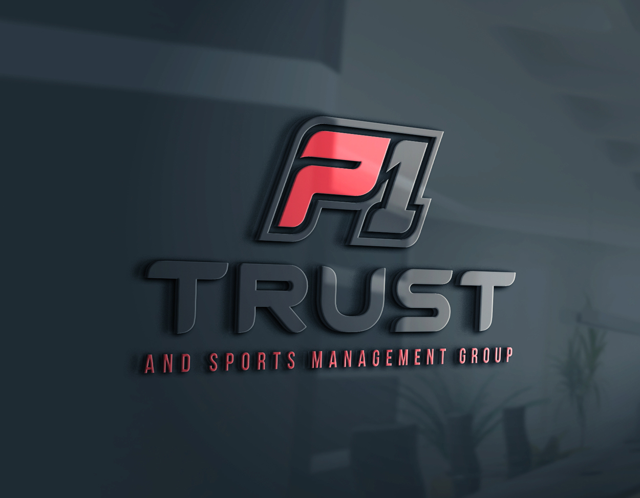 P1 Trust and Sports Management NFL Logo Design