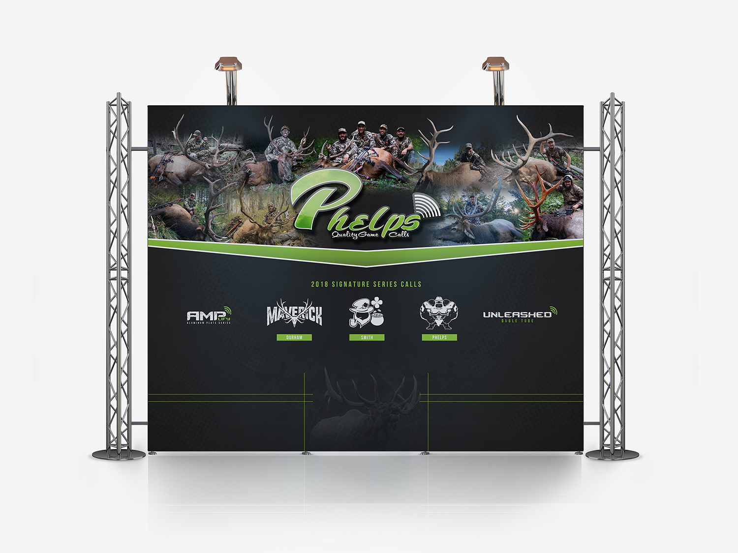 Phelps Game Calls Hunting Tradeshow Booth Design