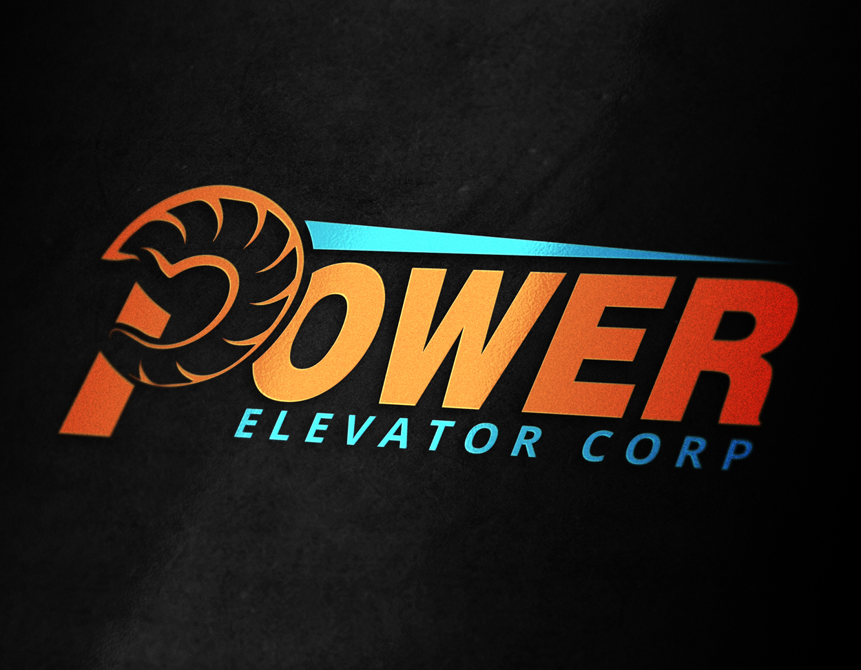 Power Elevator Ram Horn Logo Design