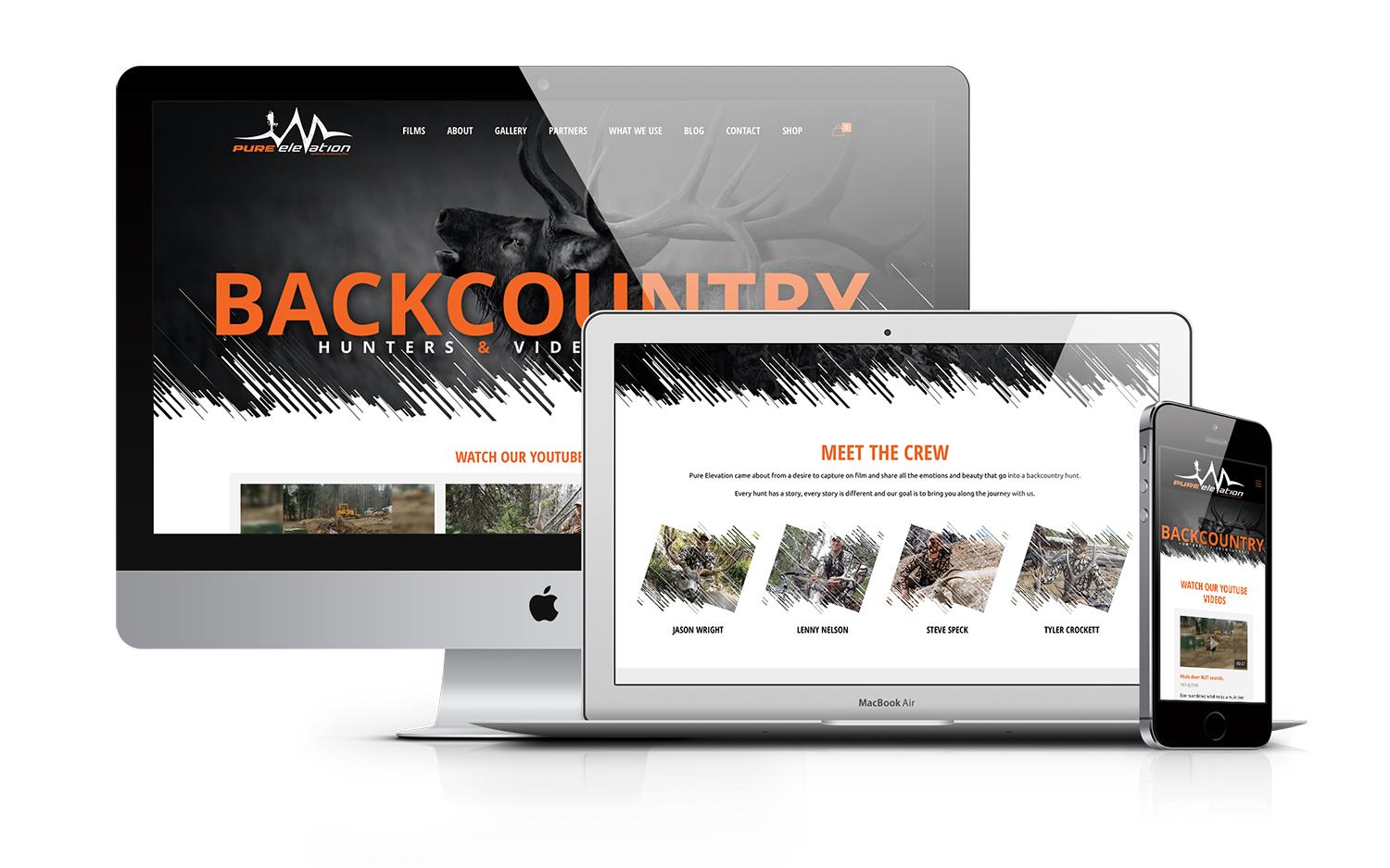 Pure Elevation Productions Hunting Videography Website Design