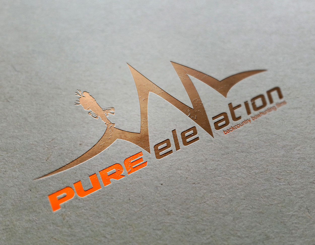 Pure Elevation Productions Outdoor Film Creative Logo Design