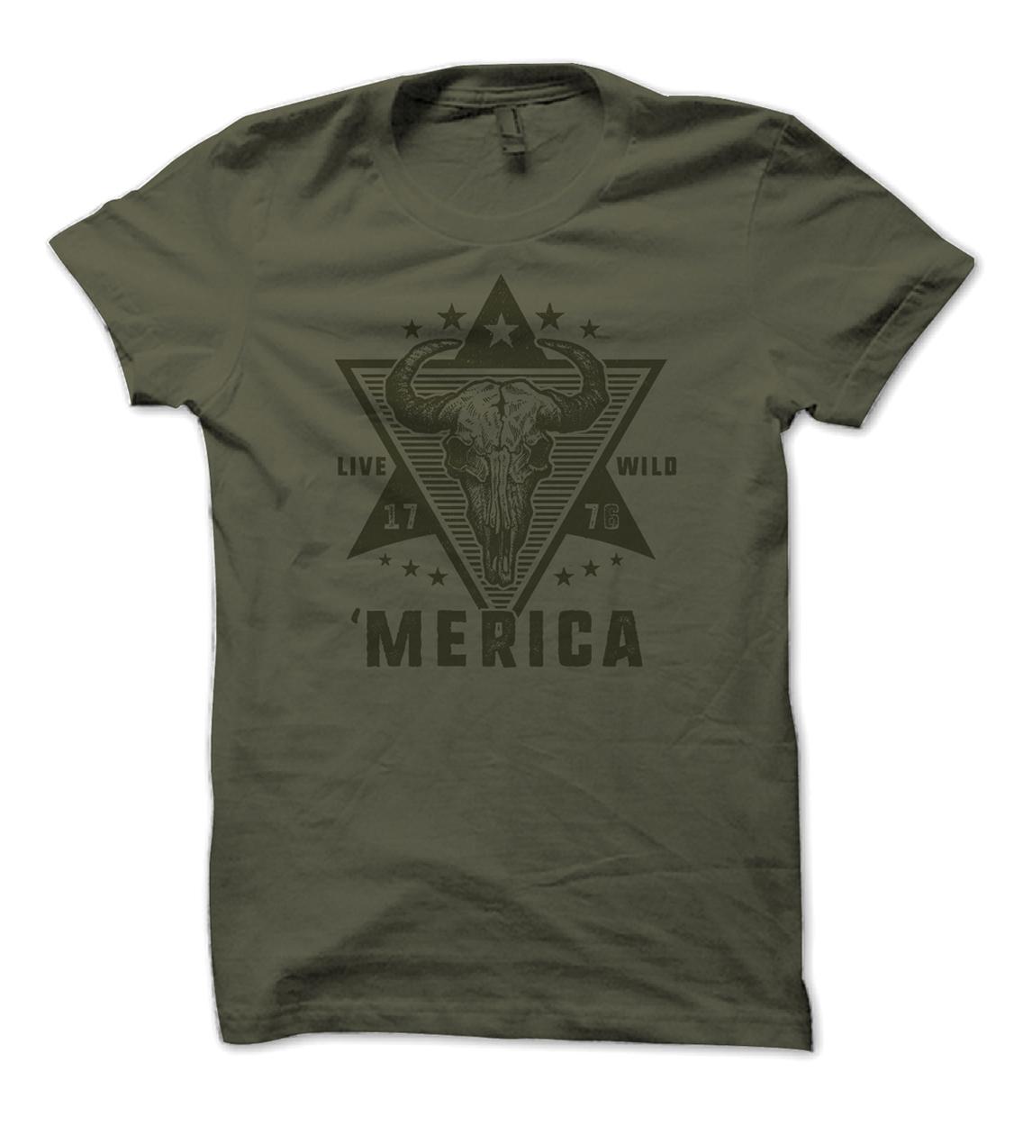 Puruse The Wild Merica Hunting Shirt Design