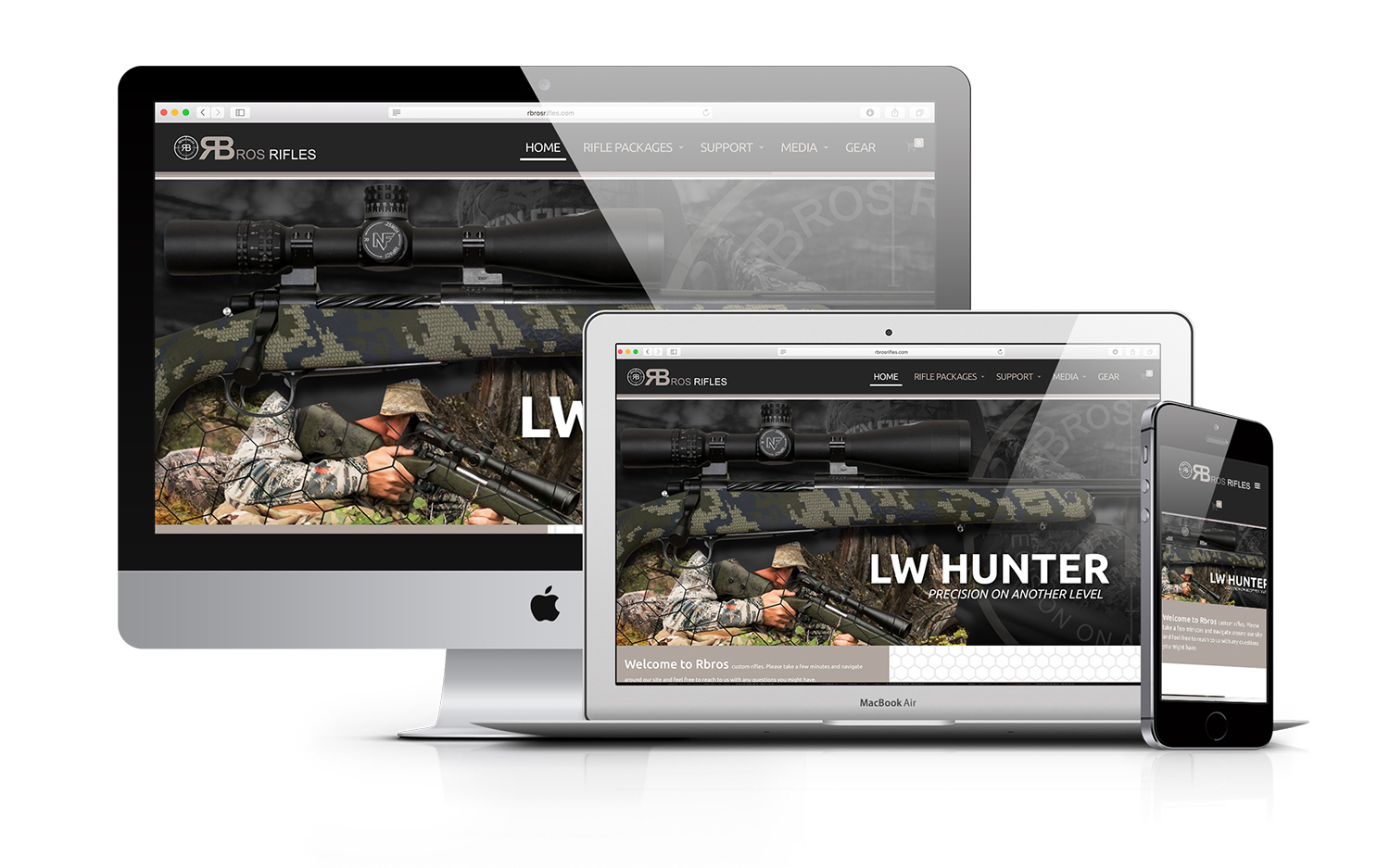 Rbros Rifles Competition Hunting Website Design