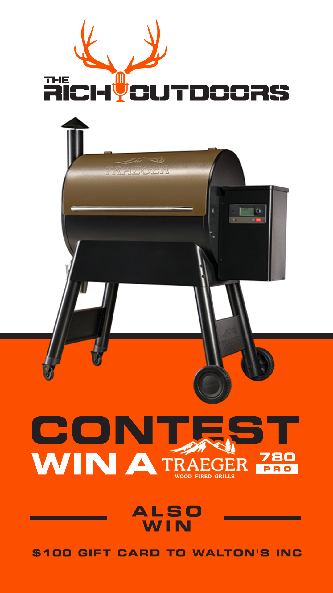 Rich Outdoors traeger giveaway Instagram Story Ad Design