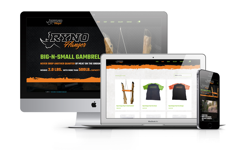 Ryno Hanger Hunting Gambrel Outdoor Website Design