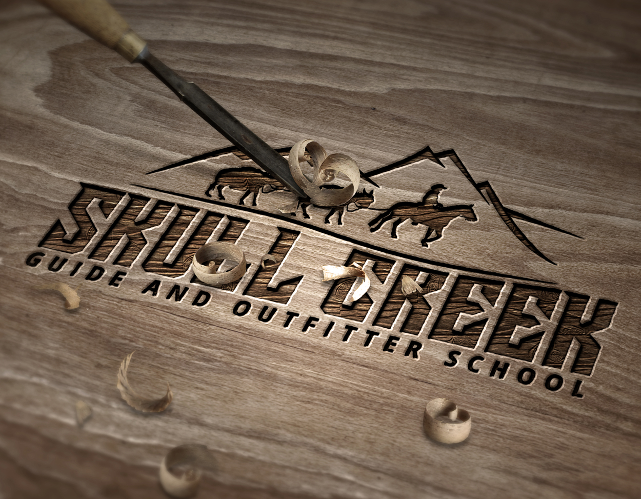 Skull Creek Guide and Outfitter Logo Hunting Design