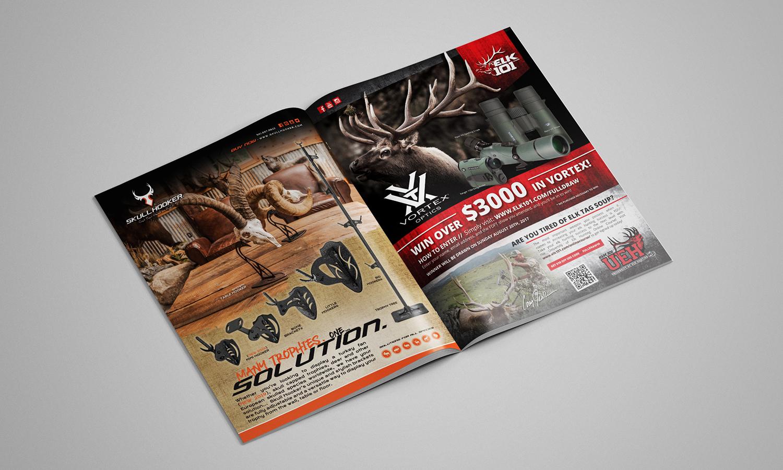 Skull Hooker Elk101 Full Page Magazine Ad Graphic Design