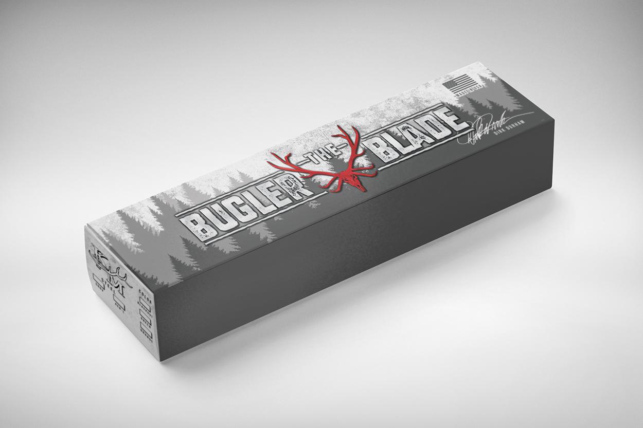 The Bugler Blade Hunting Knife Packaging Design