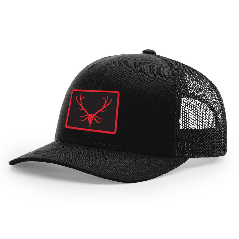 The Bugler Brand Red Elk Skull Hunting Hat Desgin