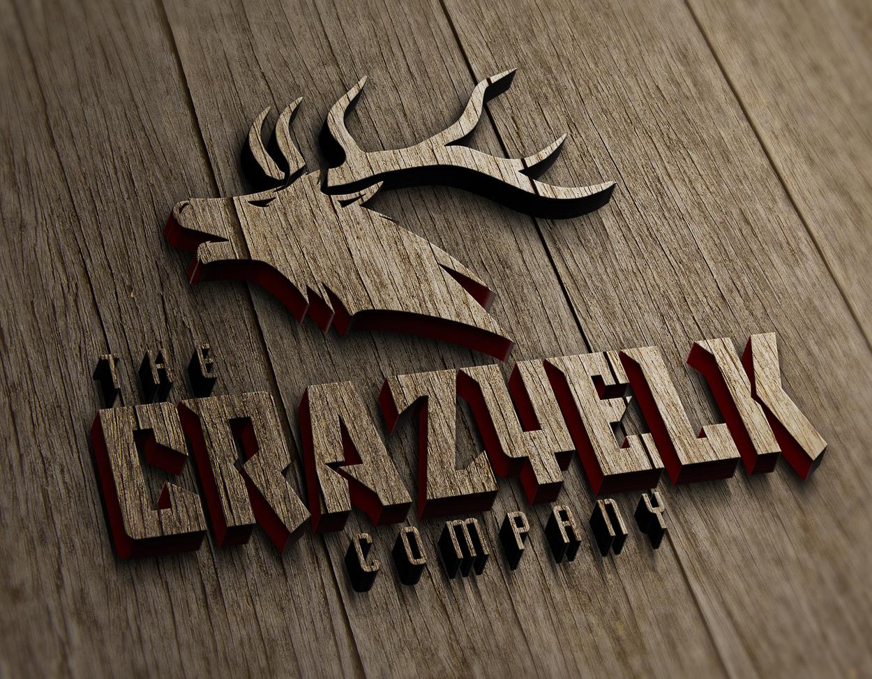 The Crazy Elk Company Big Bull Logo Design