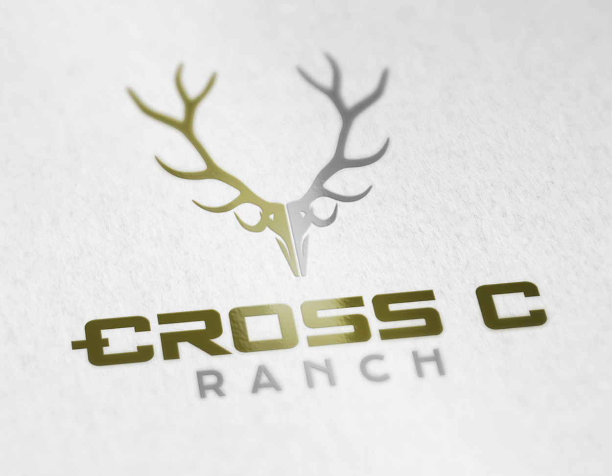 The Cross C Ranch Wyoming Hunting Outfitter Logo Design