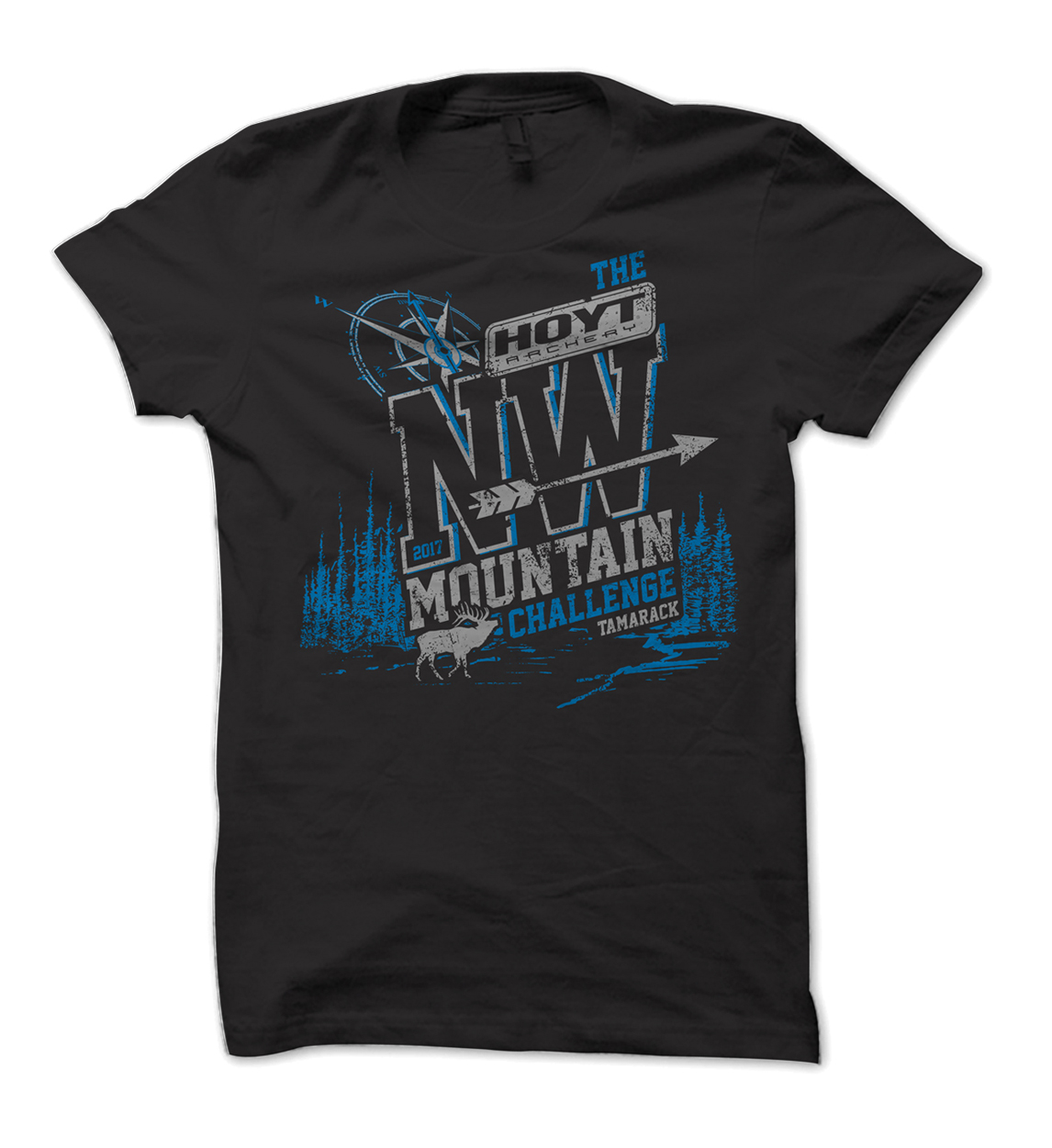 The Hoyt NW Mountain Challenge 3D ARchery Shoot Shirt Design