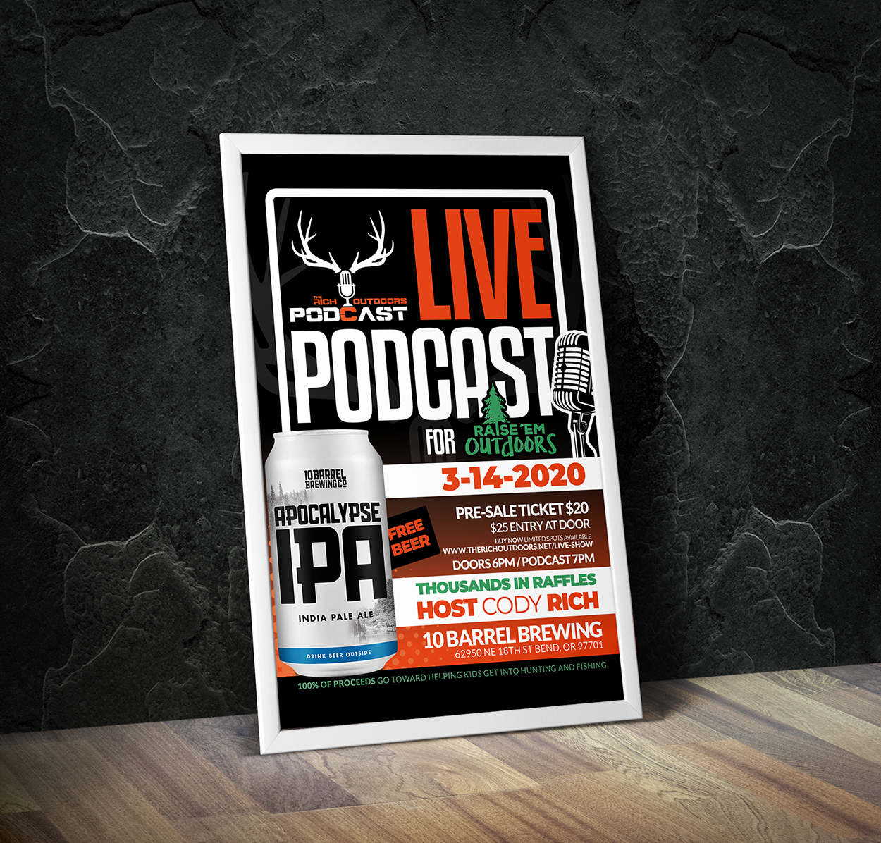 The Rich Outdoors Podcast 10 Barrel Hunting Flyer Design
