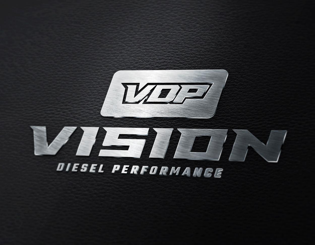 Vision Diesel Performance Truck Logo Design
