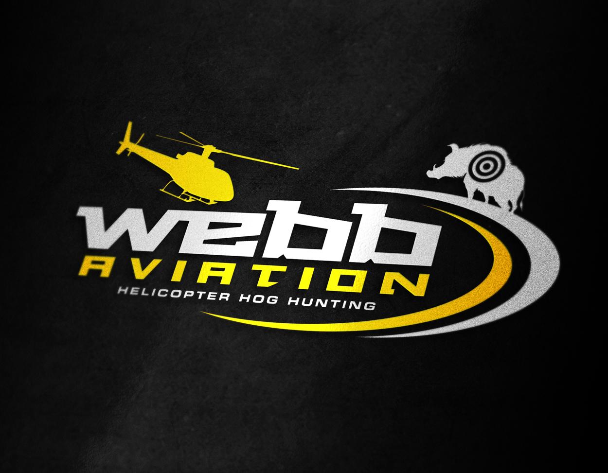 Webb Aviation Helicopter Hunting Logo Design