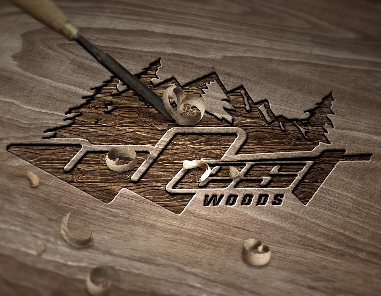 West Woods Canadian Motorcycle Logo Design