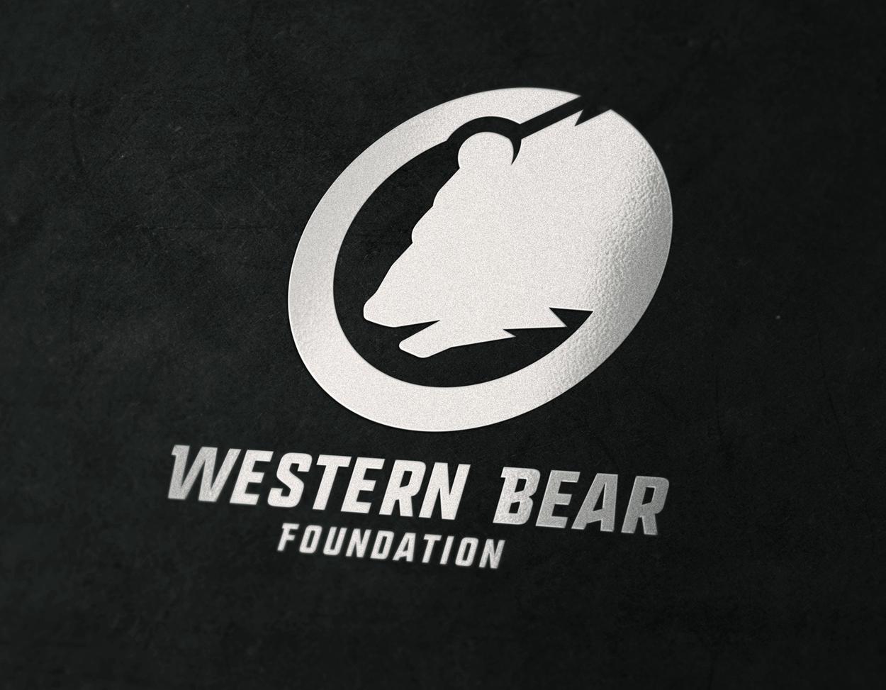 Western Bear Foundation Grizzly Bear Logo Design