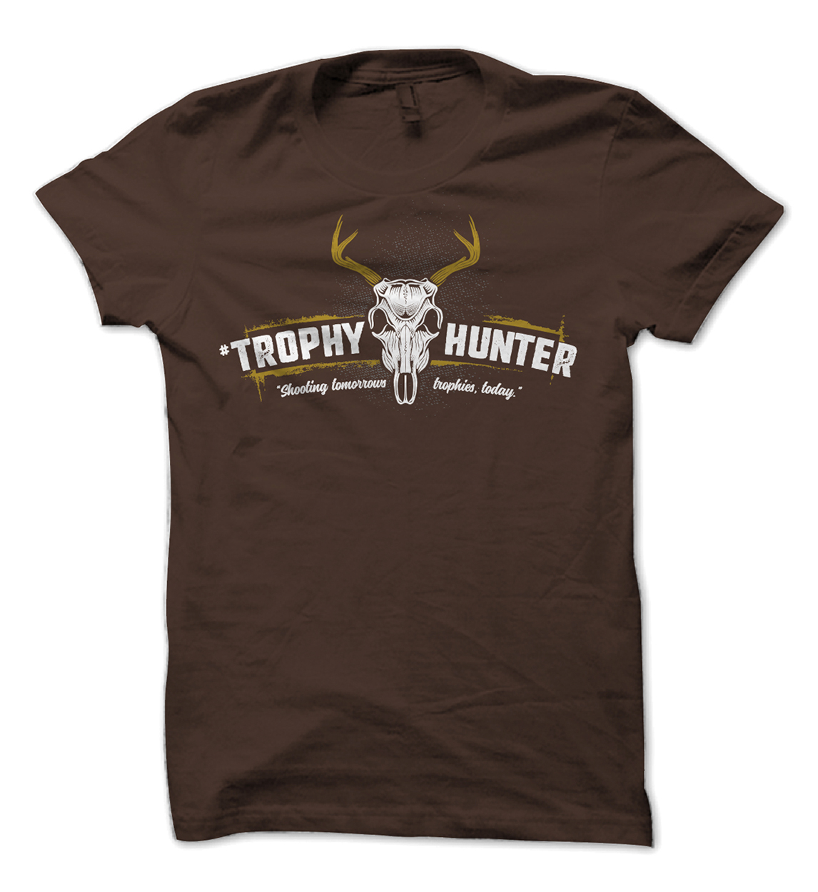 Whitetail Buck Trophies Hunting Tee Design