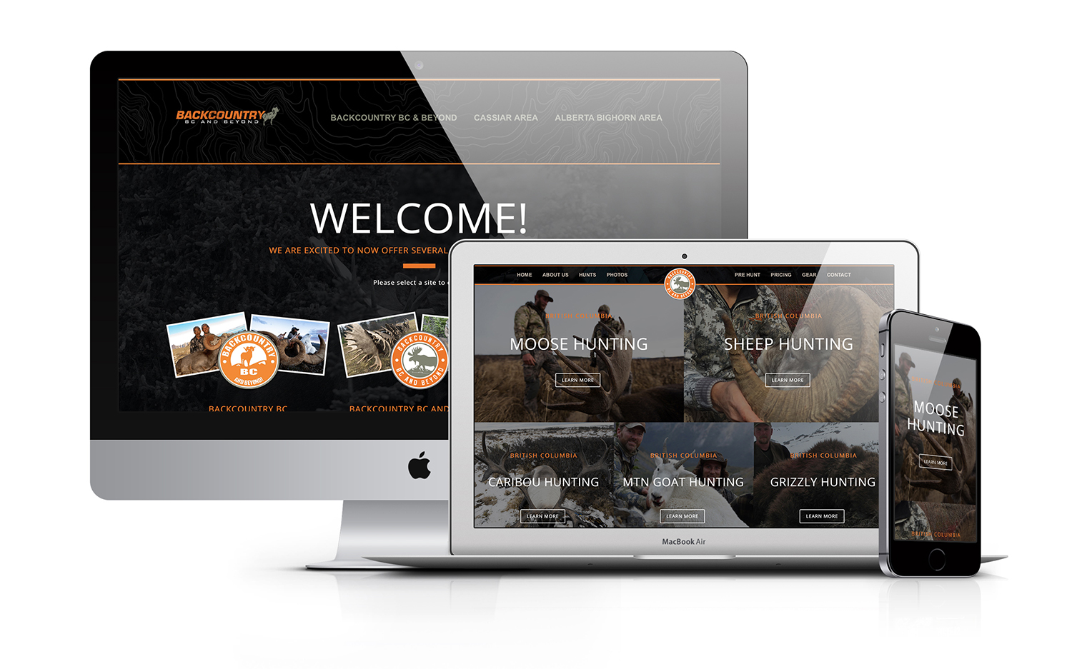 Backcountry BC and Beyond Hunting Outfitter Website Design