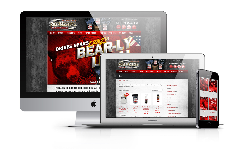 Boarmasters Bear Hunting eCommerce Custom Website Design