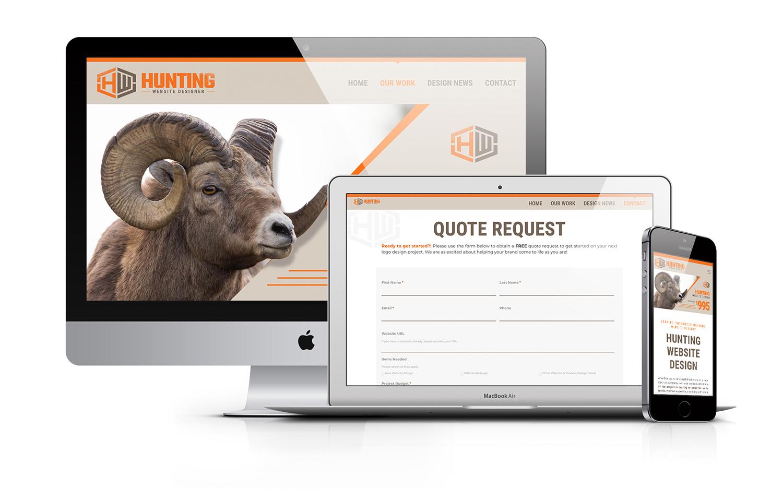 Hunting Website Designer Outfitter Marketing Mock