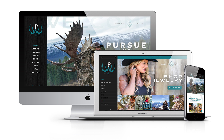 Kristy Titus Pursue The Wild Hunting Outdoor Tv Show Website Design